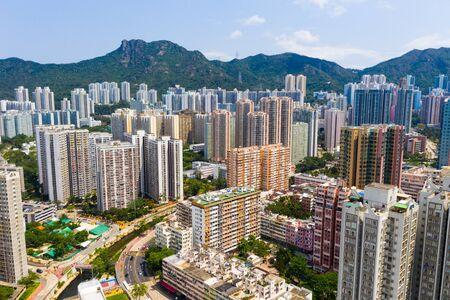 panoramic shot for the city in Hong Kong