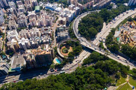 Aerial view of Hong Kong kowloon side