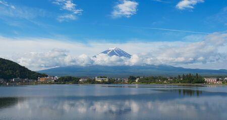 Japanese mountain Fuji in Kawaguciko Stockfoto