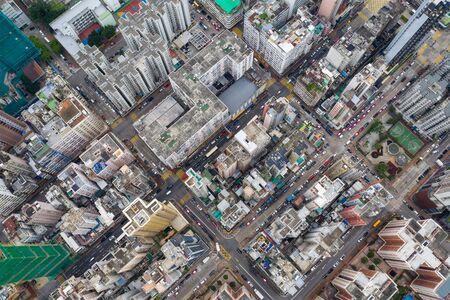 Top view of Hong Kong city Stockfoto