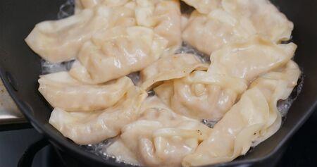 Fry meat dumpling at home