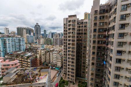 Hong Kong residential apartment building Stock Photo