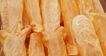 Dried fish maw close up Stock fotó