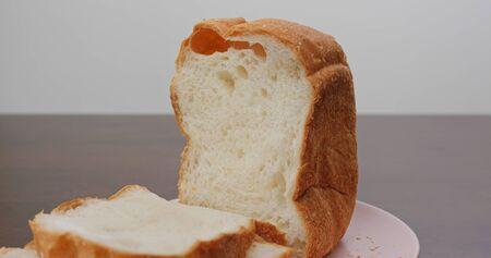 Cut white baked homemade white bread