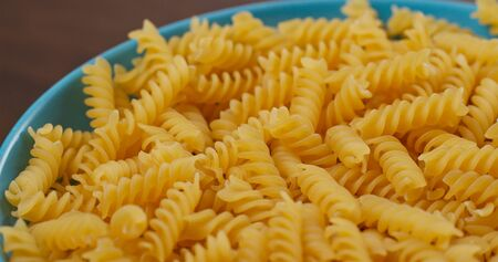 Stack of fusilli on plate Stock fotó