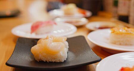 Fresh sushi in Japanese restaurant