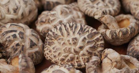 Stack of the dry mushroom