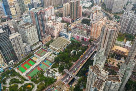 San Po Kong, Hong Kong 17 May 2019: Top view of apartment building in Hong Kong