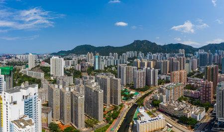 Wong Tai Sin, Hong Kong 12 May 2019: Hong Kong skyline