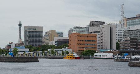 Yokohama, Japan, 30 June 2019: Yokohama city in the evening