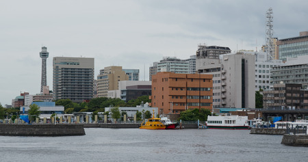 Yokohama, Japan, 30. Juni 2019: Yokohama City am Abend