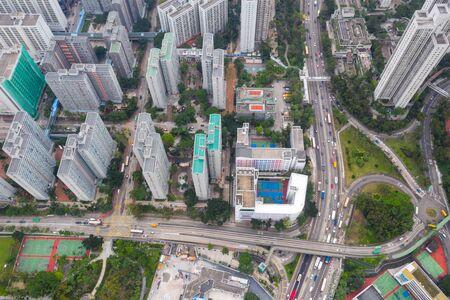 aerial view of Wong Tai Sin, Hong Kong