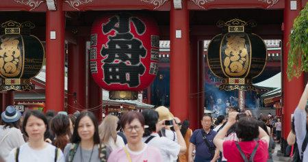 Tokyo, Japan, 24 June 2019: Sensoji in Tokyo city Editöryel