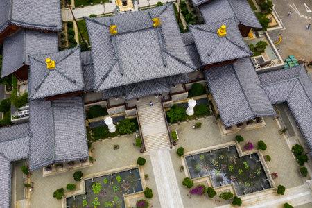 Diamond Hill, Hong Kong 16 May 2019: Top view of Hong Kong chi lin nunnery Editöryel