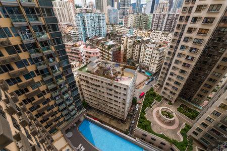 Hung Hom, Hong Kong 05 June 2019: Hong Kong residential apartment building