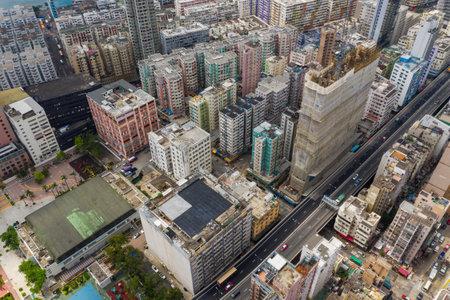 To Kwa Wan, Hong Kong 17 May 2019: Top view of Hong Kong city