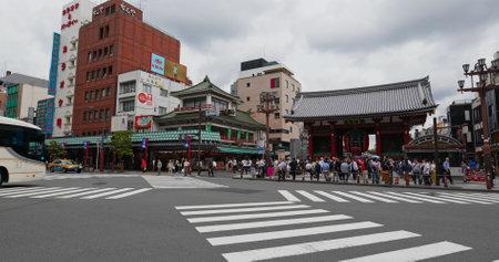 Tokyo, Japan, 24 June 2019: Famous Sensoji in Asakusa Editöryel