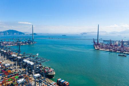 Hong Kong 15 May 2019: Cargo Terminal in Hong Kong city