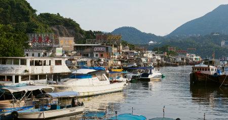 Lei Yue Mun, Hong Kong 29 August 2019: Hong Kong fishing village