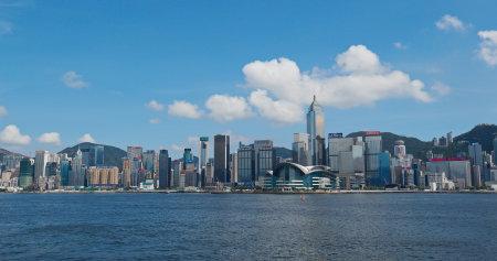 Victoria Harbor, Hong Kong, 26 July 2019: Hong Kong city