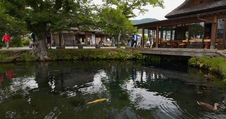 Yamanashi, Japan, 28 June 2019: Oshino Hakkai in Japan