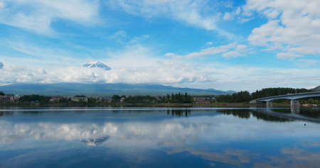 Mountain Fuji in Kawaguchiko Lake of Japan