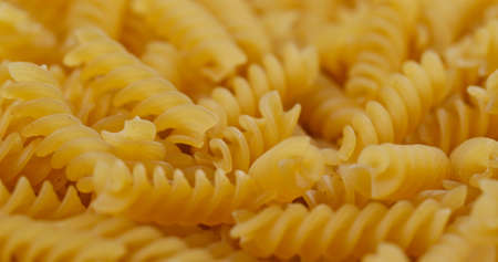 Heap of fusilli close up