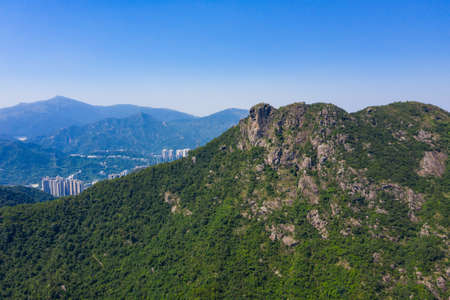 Lion rock mountain in Hong Kong