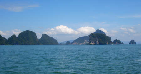 Phang Nga Bay in Thailand Phuket 免版税图像