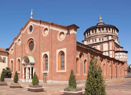 adjacent: Santa Maria delle Grazie (Milan, Italy). This church and the adjacent Dominican convent were built during the 15th century. The back wall of the convent dining hall is covered by