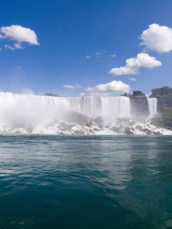 American Niagara Falls at USA border Stock Photo