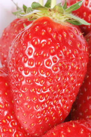 Macro shot of some strawberries. Studio shot. Shallow DOF. Stock Photo - 7050766