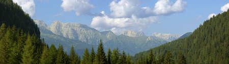 catena: Beautiful summer mountain landscape. View of the Catena del Lagorai (Trentino-Alto Adige, Italy).