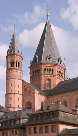 mainz: Eastern towers of Mainz Cathedral
