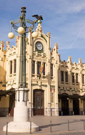 Estacion del Norte (Estacio del Nord in Valencian) in Valencia. This buiding was built between 1906 and 1917 and is one of the most symbolic examples of civil architecture in Valencia.