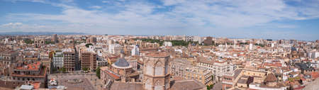 Panoramic view of Valencia from the Miguelete tower