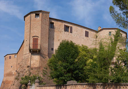 Malatesta fortress in Santarcangelo di Romagna, Italy. Built in the XIV century it was modified during the XV century under Sigismondo Pandolfo Malatesta.
