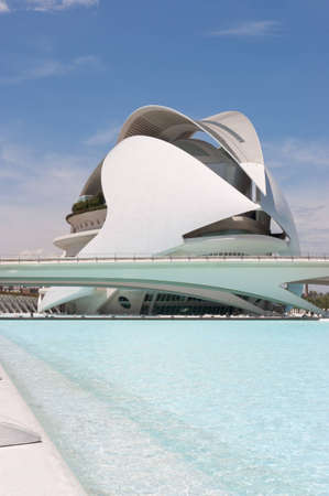 Queen Sofia Palace of the Arts in Valencia (Spain). It is an opera house and cultural centre in Valencia. It is part of the City of Arts and Sciences designed by Santiago Calatrava. Editorial