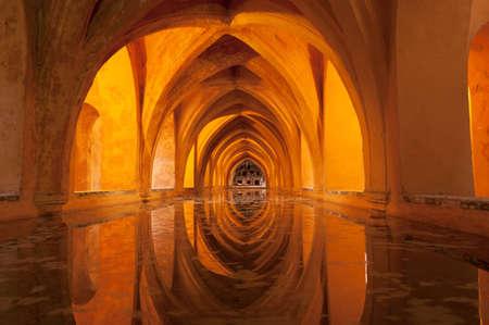 Los Baños de Doña María de Padilla (Baths of Lady María de Padilla) in the Alcazar of Seville.These baths are rainwater tanks and are located beneath the Patio del Crucero.