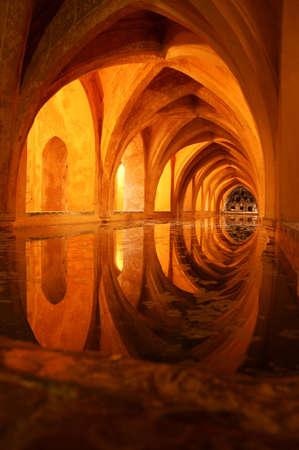 padilla: Los Banos de Dona Maria de Padilla (Baths of Lady Maria de Padilla) in the Alcazar of Seville.These baths are rainwater tanks and are located beneath the Patio del Crucero.