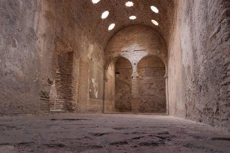 Inner room of an Arab bath in Granada.