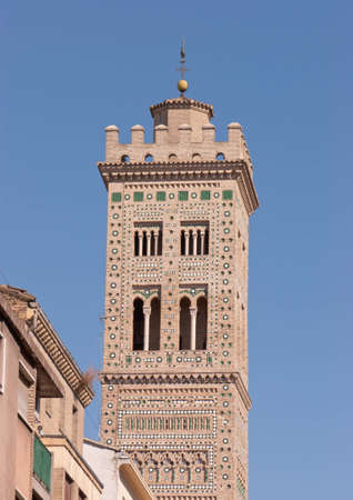 mudejar: Bell tower of Santa Maria Magdalena church in Zaragoza