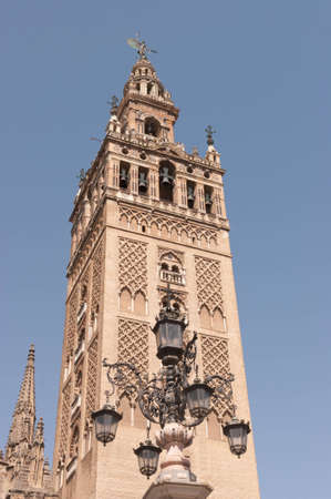 The bell tower of the Cathedral of Seville, known as the  Giralda   The tower was the minaret of the city