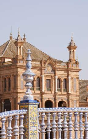 Detail of Plaza de Espana in Seville  Selective focus, shallow DOF