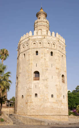 The  Torre del Oro   Gold Tower  in Seville, Spain  Built during the 13th century by the Guadalquivir riverside, it served as a military watchtower