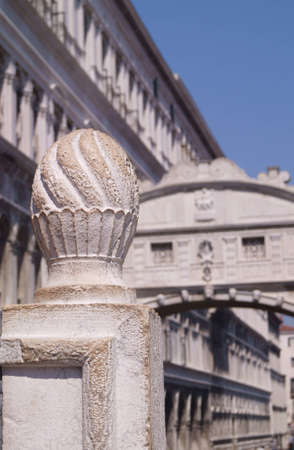 Out of focus view of the Bridge of Sighs in Venice  Stock Photo