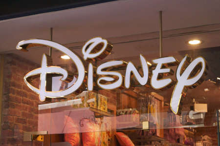 Close-up view of the Disney store Editorial