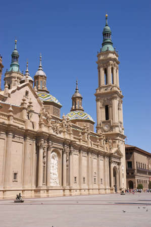 Our Lady of the Pillar Basilica in Zaragoza, Spain  The construction of the present baroque church was begun in 1681 by the King Charles II Editorial