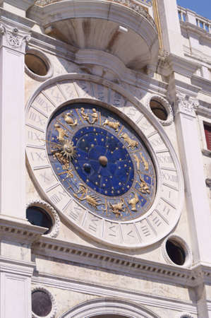 The clock face of the famous St Mark