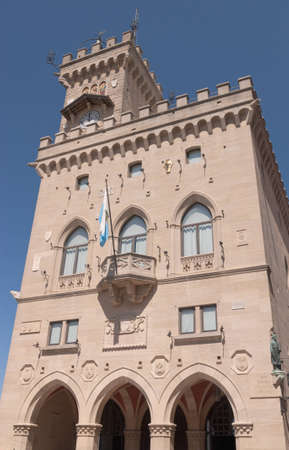 Palazzo Pubblico  Public Palace  in San Marino  This building is the town hall of the city of San Marino and its official Government Building
